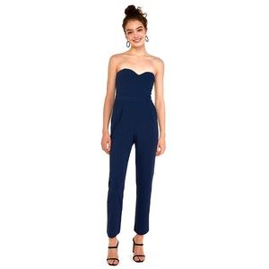 Express Strapless Sweetheart Neck Jumpsuit